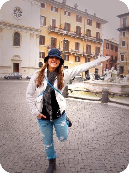 Gina V. in Rome